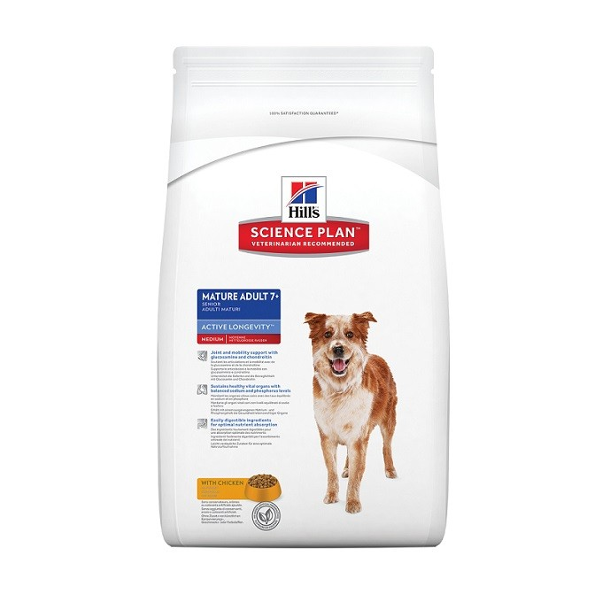 Hill's Mature Adult 7+ Active Longevity Medium Huhn Hundefutter