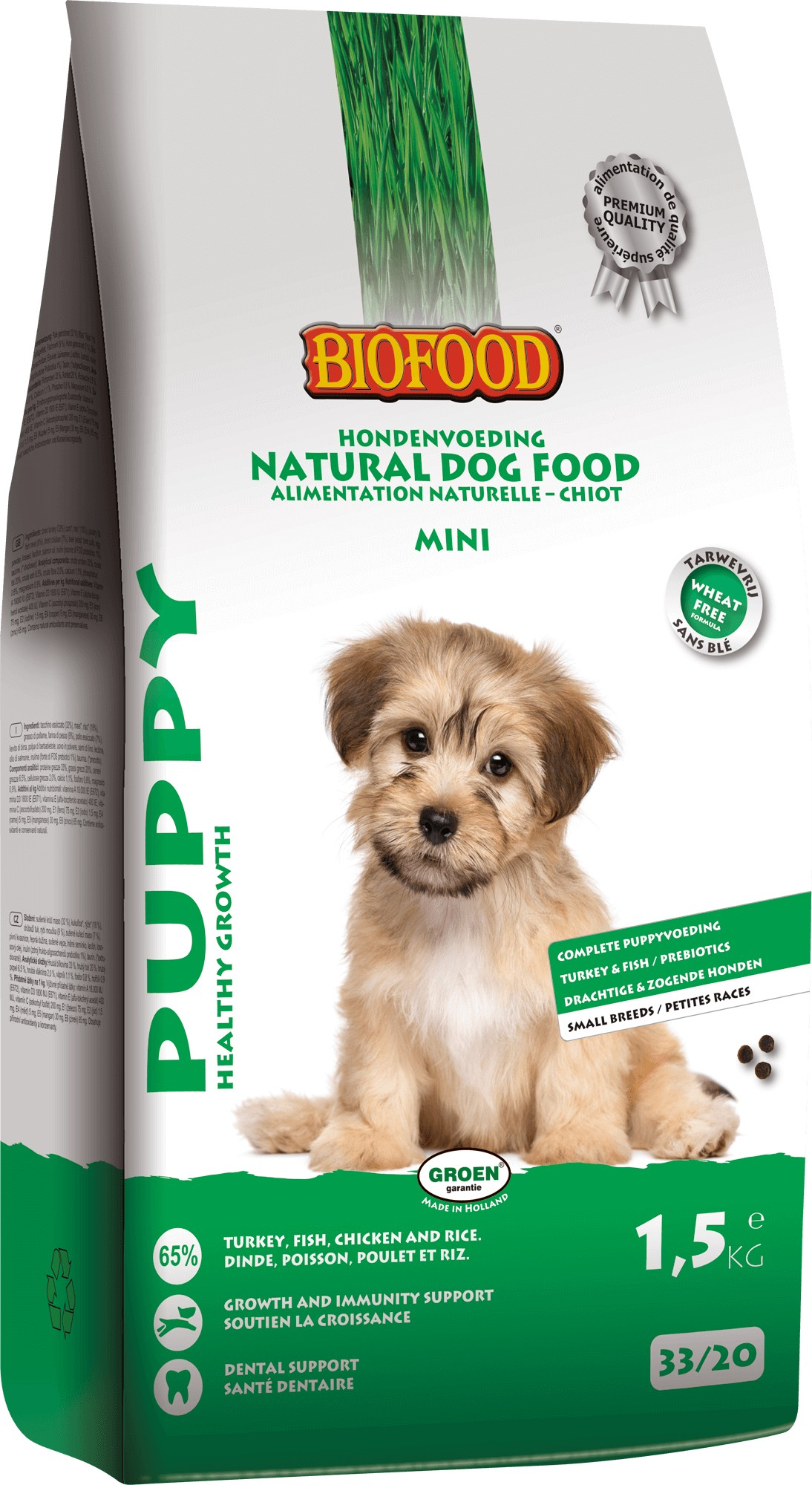 Biofood Puppy Small Breed hondenvoer