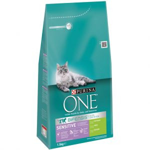 Purina One Sensitive Kalkoen en Rijst kattenvoer