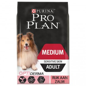 Pro Plan Adult Medium Sensitive Skin Salmon Optiderma Hundefutter