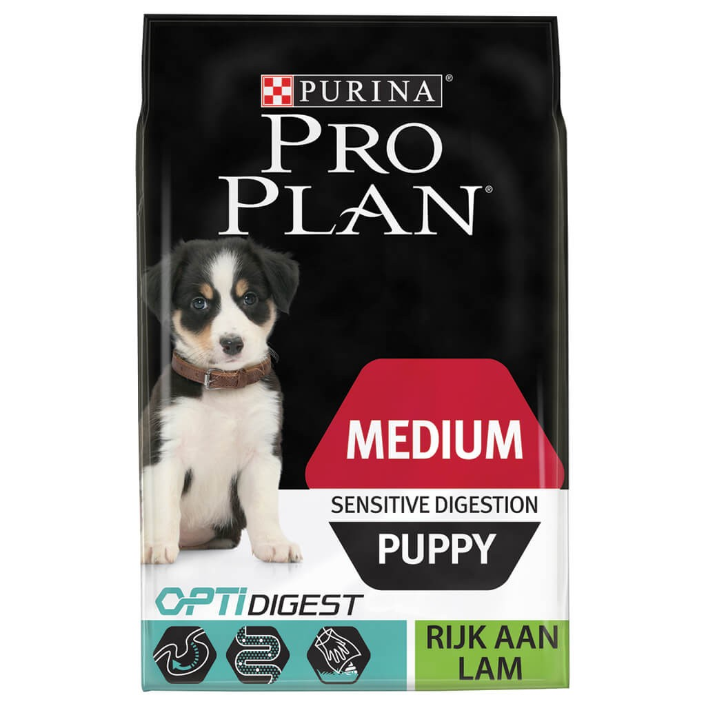 Pro Plan Optidigest Medium Puppy Sensitive Digestion Lamm Hundefutter