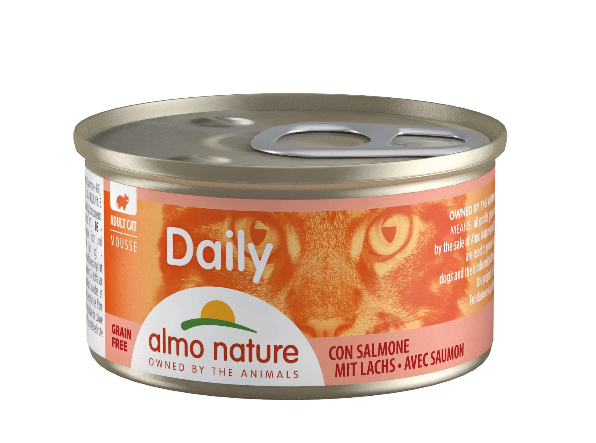 Almo Nature Daily Mousse mit Lachs  85 Gramm