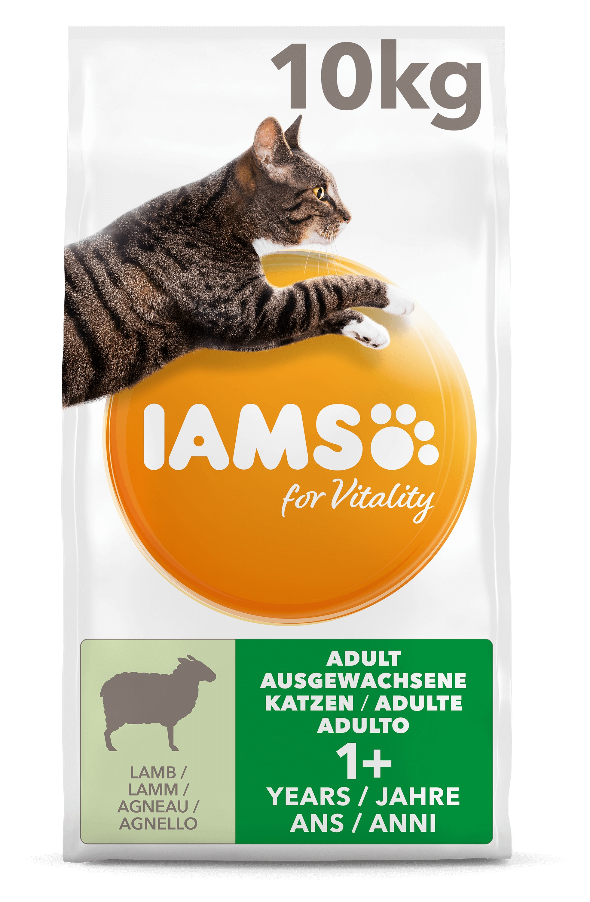 Iams For Vitality Adult Lam kattenvoer