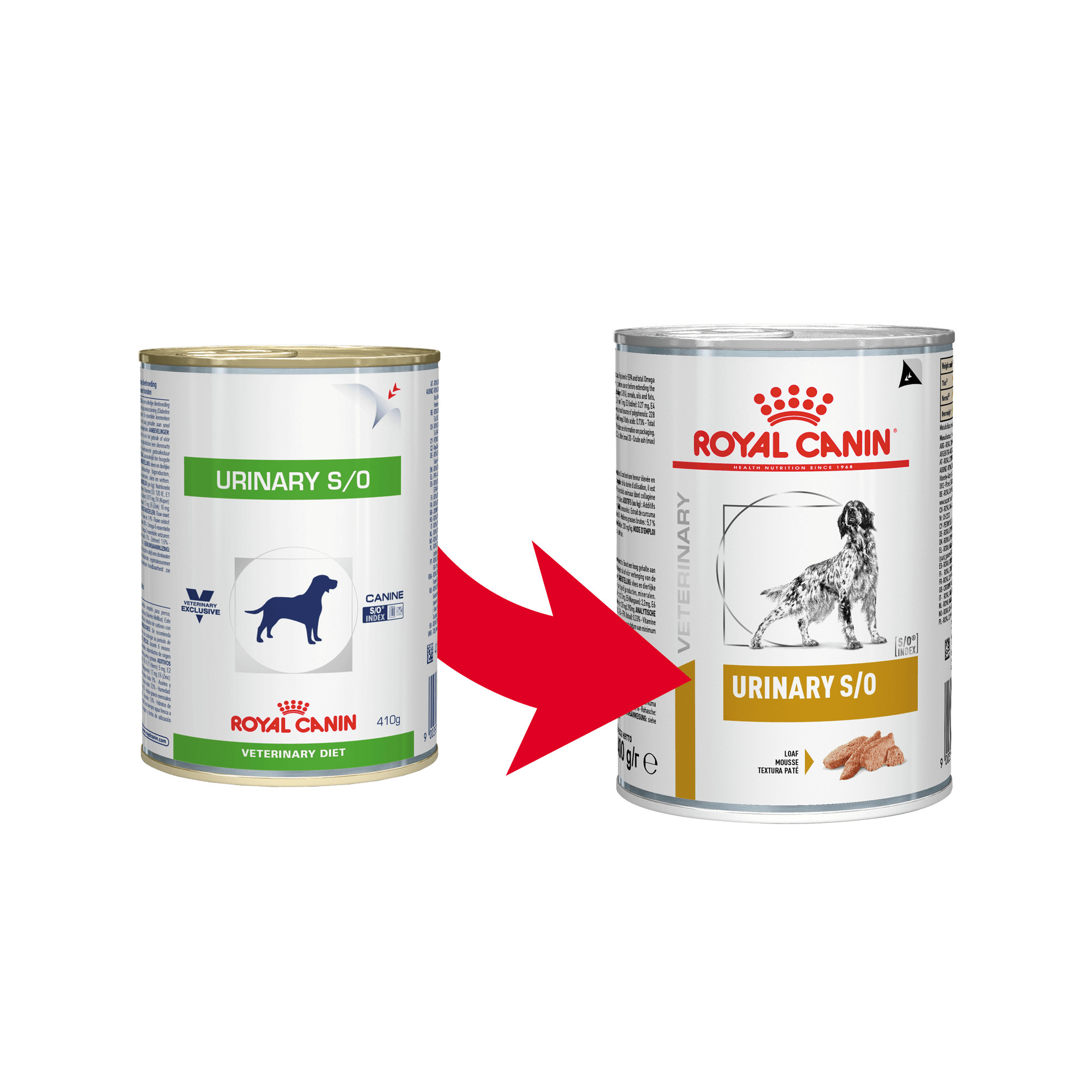Royal Canin Veterinary Urinary S/O Hundefutter (Dosen) 410g