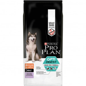 Pro Plan Optidigest Medium & Large Adult Sensitive Digestion Kalkoen Graanvrij hondenvoer