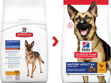Hill's Mature Adult 6+ Active Longevity Large Breed Huhn Hundefutter