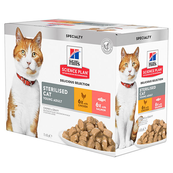 Hill's Sterilised Young Adult Pouch Katzenfutter